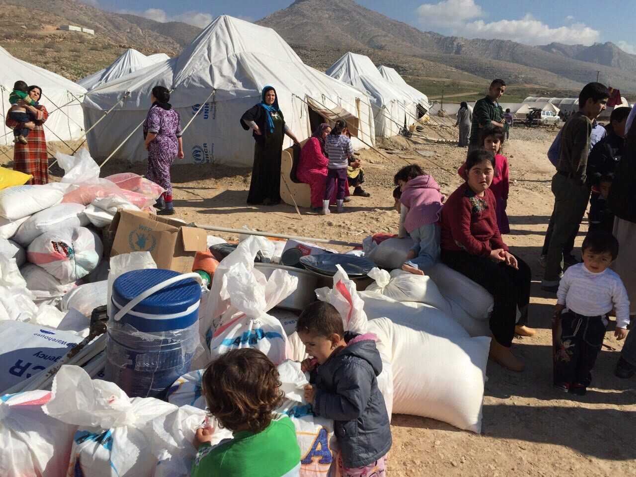 Relief brought to displaced families in Duhok- Iraq